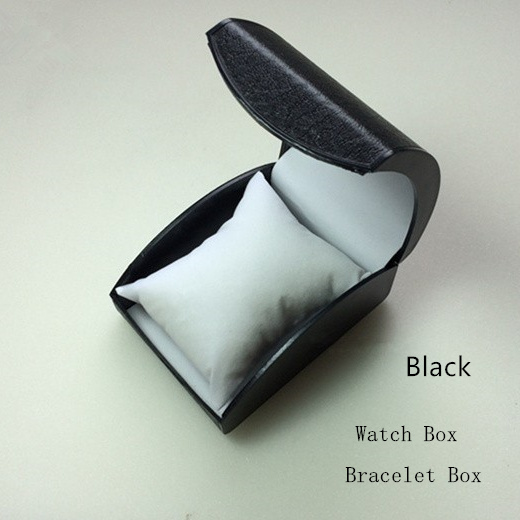 Cheap Plastic Watch Storage Box Black Watch Case With Pillow Fashion Luxury Brand Watch Gift Box