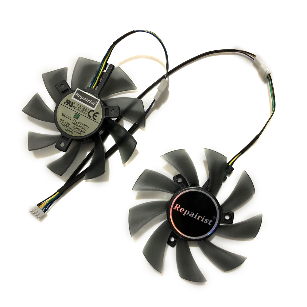 2 pcs/lot GPU RX 470/570 ARMURE refroidisseur ventilateur de la Carte Vidéo Pour Radeon RX570 MSI RX470 ARMURE Carte Graphique De Refroidissement système comme remplacer