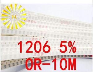 170valuesx50шт = 8500 шт 1206 SMD резистор набор Ассорти набор 0R-1M Ом 5% Образец комплект образец мешок предохранитель