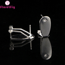 Wholesale 20pieces 10 pairs Fingernail Posts Earrings silver Clip on earrings for women cheap costume jewelry piercing earring