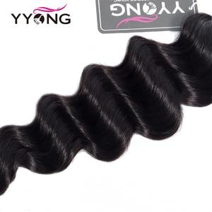Image 5 - Yyong Loose Deep Wave Bundles Brazilian Hair Bundles Remy Human Hair Extensions Natural Color Hair 3 Pcs/Lot Weave Bundles