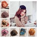 Korean sequins Beret Hat Headband For Girls Korean style England grid Fascinator FasciHeadwear Hair Accessories 5pcs WHolesale