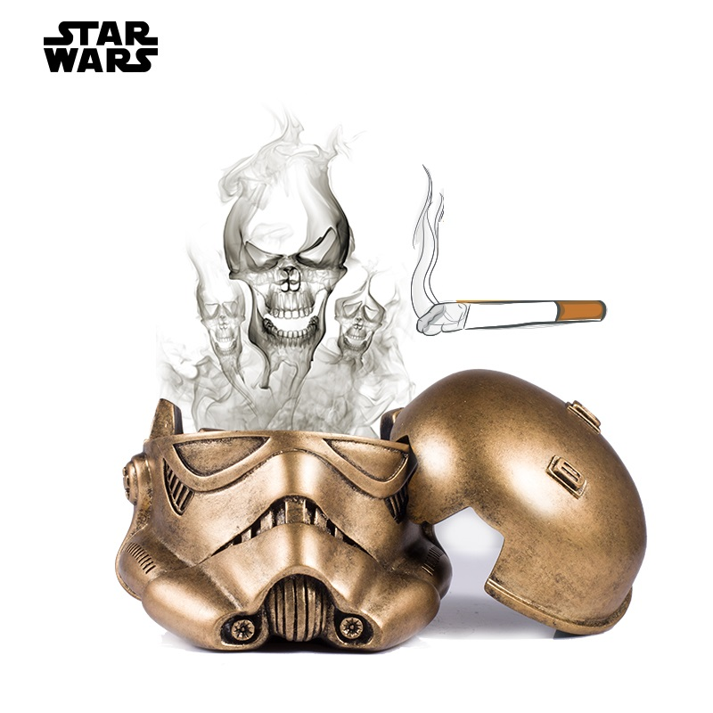 OUSSIRRO Star <font><b>Wars</b></font> model hand resin creative ashtray Home desktop accessories L2060 image