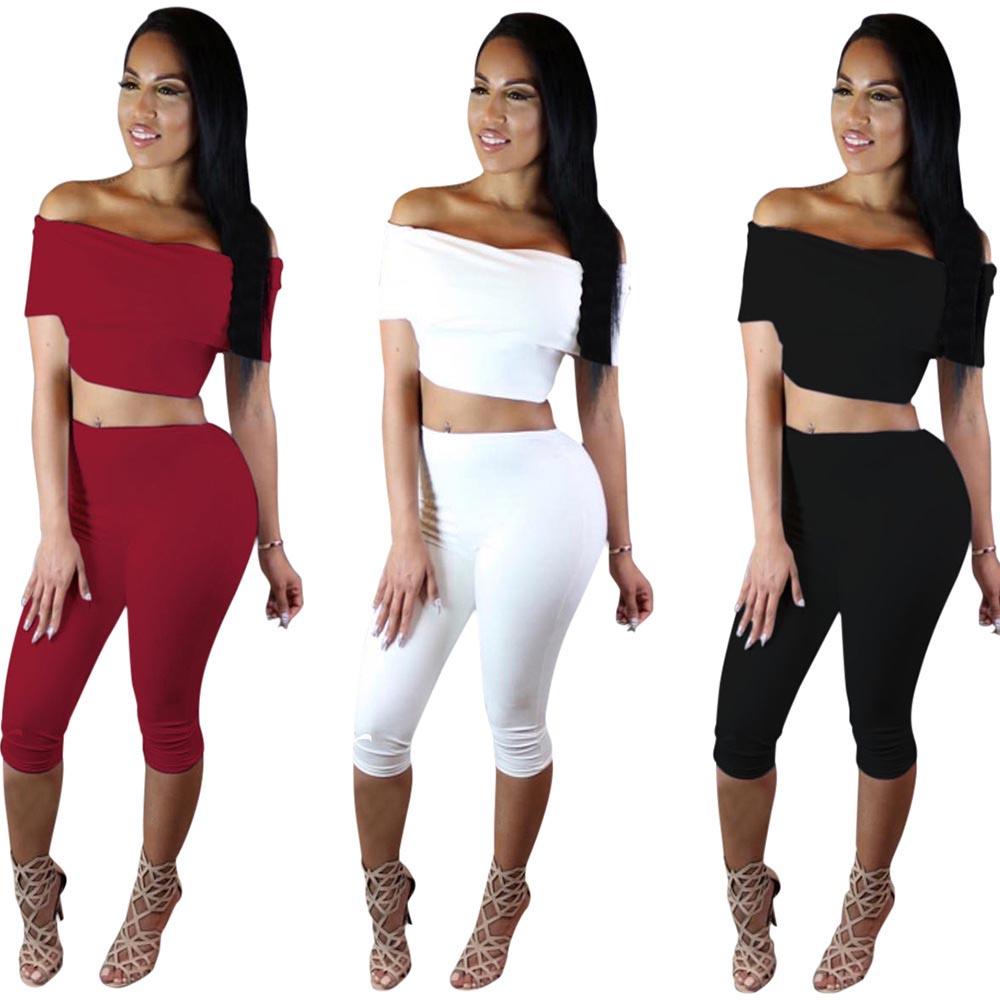 Online Get Cheap 2 Piece Bodycon Pants Cotton Set Women ...