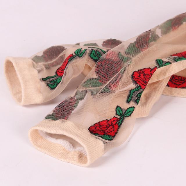 Sexy fishnet mujeres encaje volantes suave cómoda seda elástica malla tejida borde transparente tobillo calcetines divertidos 1 par = 2 piezas 3212