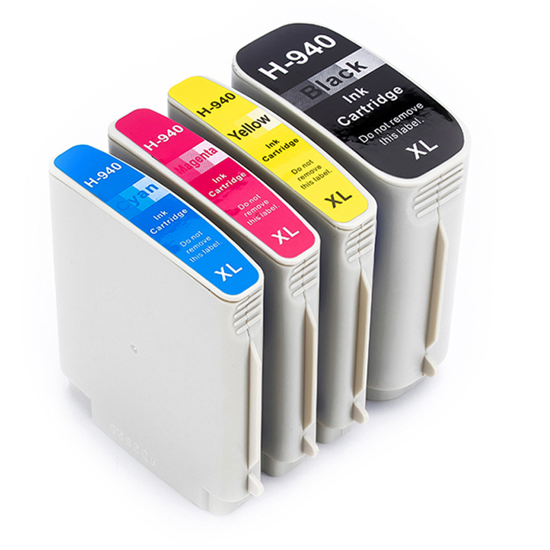 XiongCai <font><b>940XL</b></font> Compatible Ink Cartridges With Chip 4X For HP940 printer For HP Officejet Pro 8000 8500 8500A Printers 940 XL image
