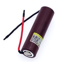 Liitokala new HG2 18650 3000mAh Rechargeable battery 18650HG2 3.6V discharge 20A, dedicated batteries+DIY Silica gel Cable liitokala new 18650 2500mah rechargeable battery 3 6v inr18650 25r 20a discharge diy silica gel cable