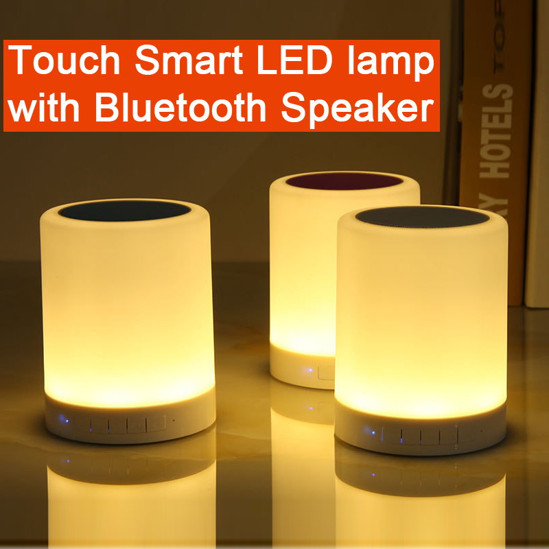 Touch smart LED lamp with bluetooth speaker touch lamp table lamp ...