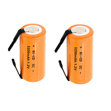 9 PCS/lot  Ni-CD 3200mAh Orange  1.2V 4/5 SC Sub C NiCd  Battery Flat Top With Tabs  rechargeable battery replacement NI-CD все цены
