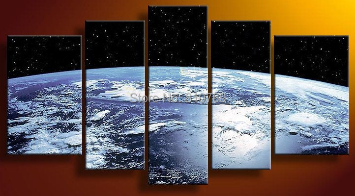 Space Wall Art Online Buy Wholesale Earth Map From The Space Oil Painting  Wall .
