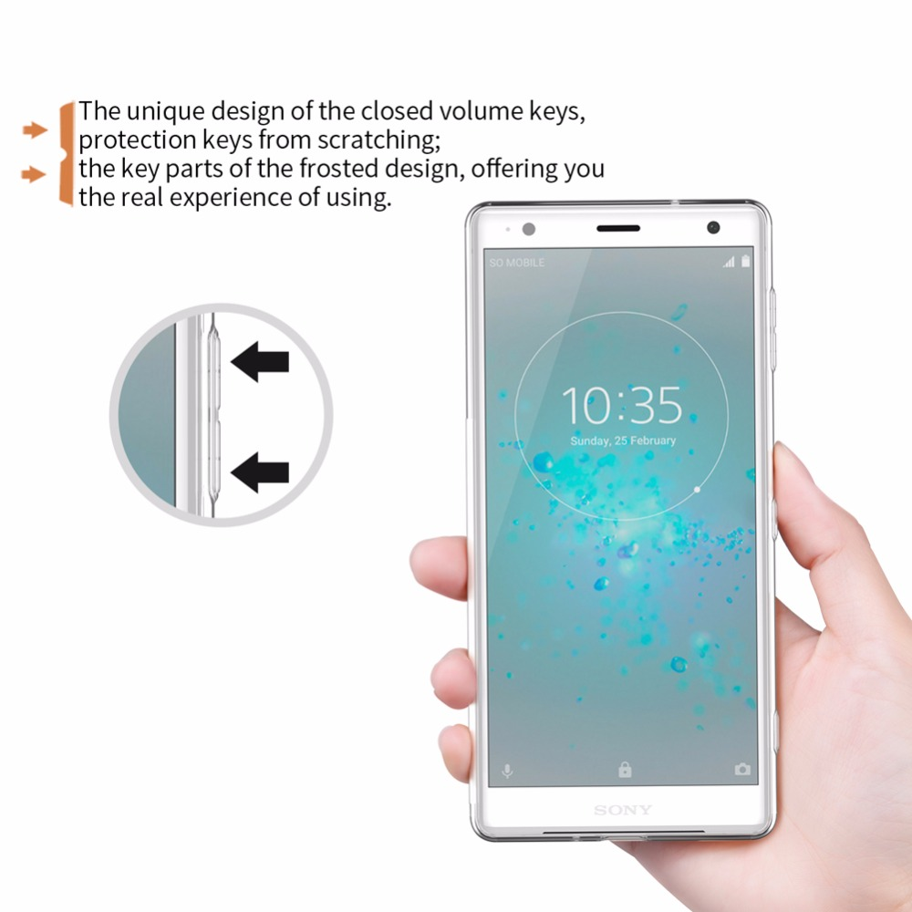Case For Sony Xperia Xz2 Nillkin Tpu Cover Clear Silikon Soft Lg V20 Nature Ultrathin 06mm Original Transparent Ultra Thin Back In Fitted Cases From Cellphones