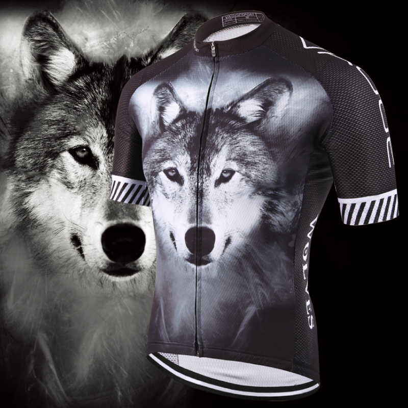 2019 Wolf Pro Unisex Cyclist Cycling Jersey Sports Original Summer Men Bike Wear Novelty Plus Size 3D Printed Cycling Shirts