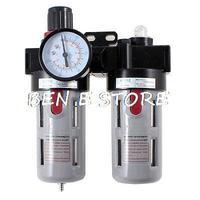 1/2 PT Port Pneumatic Filter Regulator Air Source Treatment Unit w Gauge