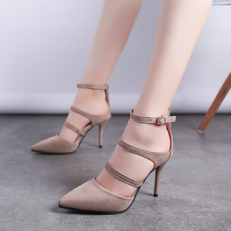 Rimocy sexy womens super high heels pointed toe gladiator pumps 2019 spring summer fashion stiletto heel ankle strap shoes womanRimocy sexy womens super high heels pointed toe gladiator pumps 2019 spring summer fashion stiletto heel ankle strap shoes woman