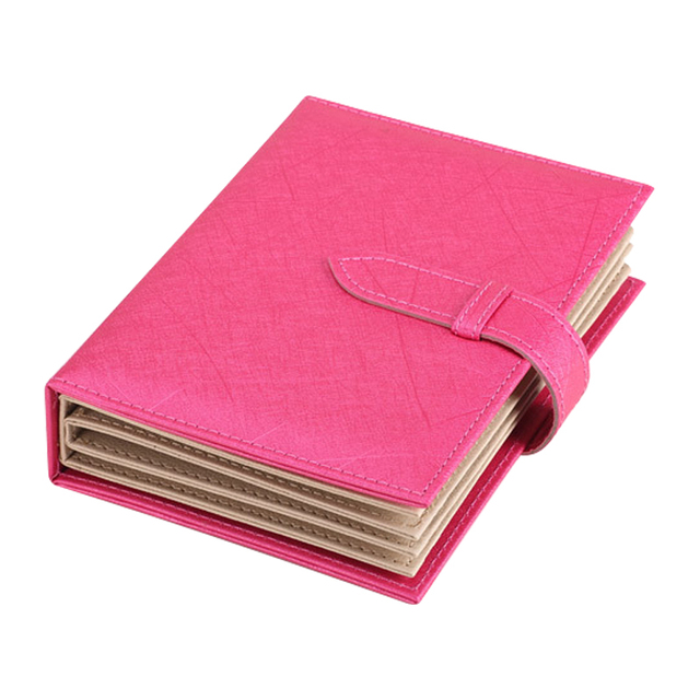 Jewelry Organizer High Quality 18.5*14*4.5cm Portable Book Typed Leather Earrings Ear Studs Hooks Holder E1IT DM#6