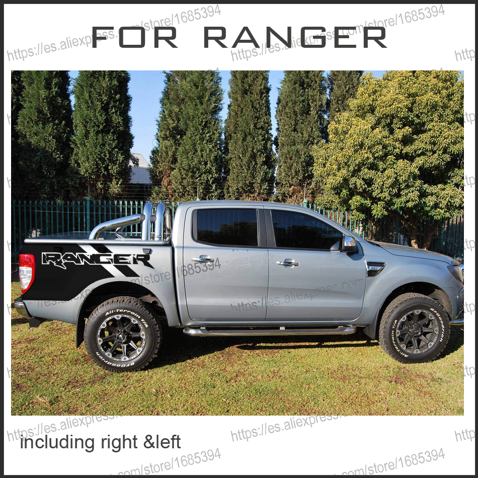 free shipping 2 PC RANGER body rear tail side graphic vinyl decals for 2012 2013 2014 2015 2016 free shipping big roller reinforced one way bearing starter spraq clutch for polaris ranger rzr1000 xp rzr1000xp 2013 2015