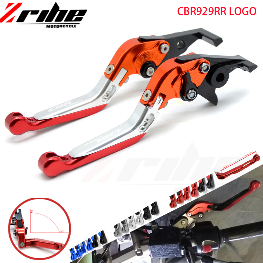 for Adjustable Foldable Extendable Motorcycle accessories CNC Brake Clutch Levers For Honda CBR929RR CBR 929 RR 2000 2001 00 01