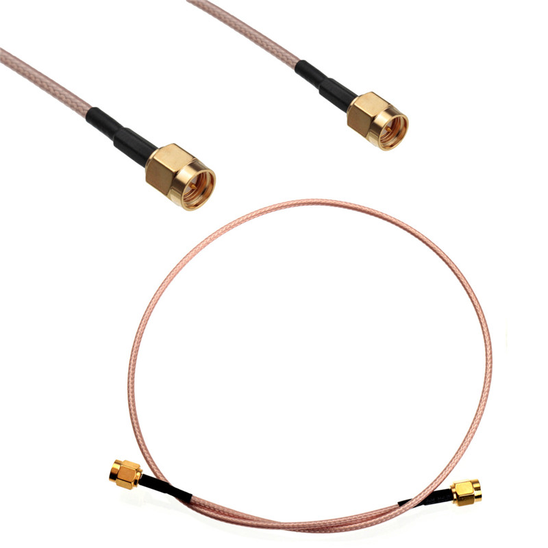 50cm Cable SMA Male To SMA Male With Nut Bulkhead RF Coax Pigtail Cable RG316 Connector Adapter пледы и покрывала les gobelins накидка на кресло paysage du parc 70х150 см
