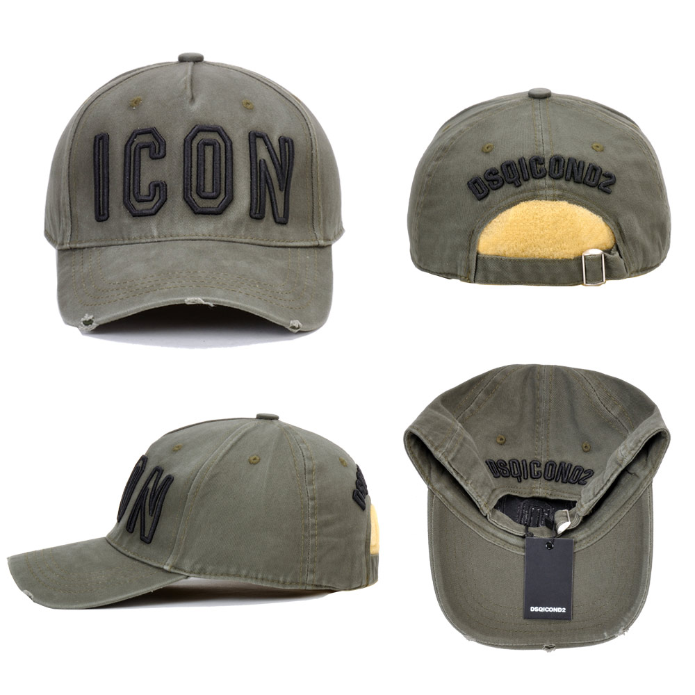 DSQICOND2 Brand 2019 DSQ Cotton Baseball Caps ICON Letters High Quality Cap Men Women Customer Design Hat Black Cap Dad Hats in Men 39 s Baseball Caps from Apparel Accessories