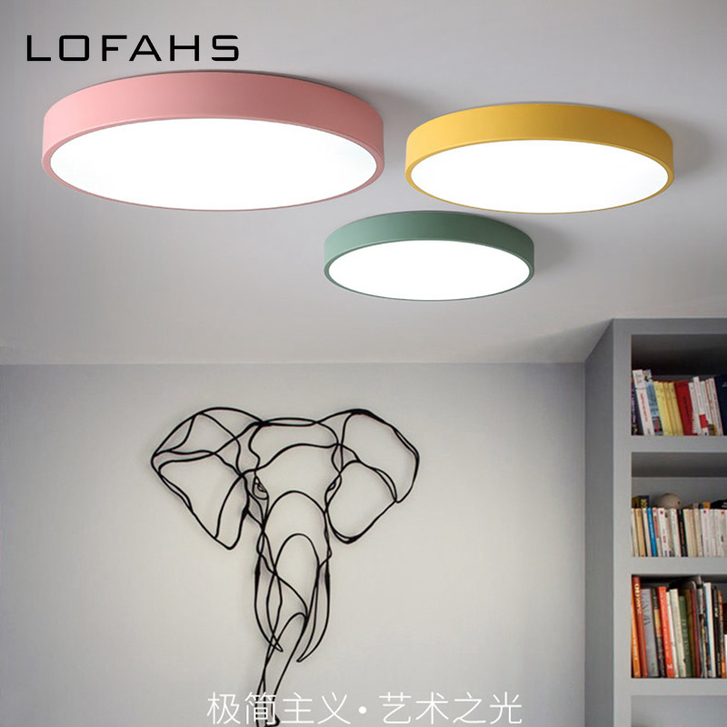 LOFAHS Modern LED ceiling light Round simple Colorful fixtures study dining room balcony bedroom living room ceiling lamp LM-651LOFAHS Modern LED ceiling light Round simple Colorful fixtures study dining room balcony bedroom living room ceiling lamp LM-651