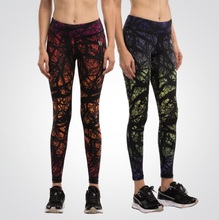2016 Women Yoga Compression Tights Pants Running Base Layer Fitness Trousers Digital Print Basic Sports Leggings