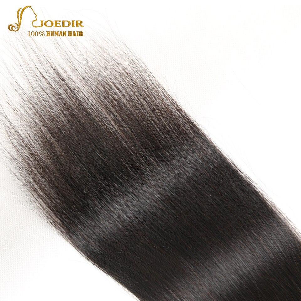 JOEDIR hår 4x4 brasilianskt rakt hår stängning fri / mitt / tre - Barbershop - Foto 4