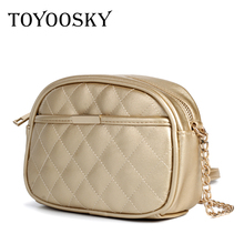 TOYOOSKY Fashion Crossbody Bags for Women 2019 High Capacity Small Shoulder Bag Quilted Plaid PU Leather Messenger