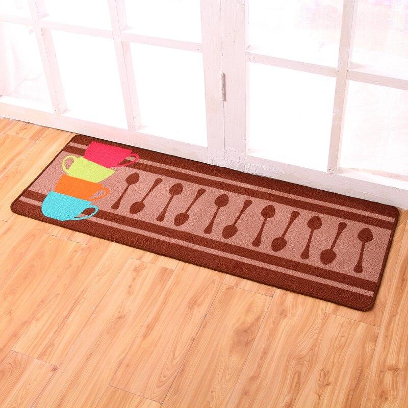 carvapet 2 piece non slip kitchen mat rubber backing