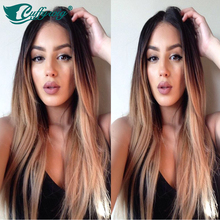 Luffy Wig Hot selling 1B 27# ombre full lace wigs human hair 130 density ombre lace front wig bleached knots with baby hair