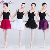 Erwachsene Ballett Tanz Praxis Kleidung Half-Länge Sand Kleid Chiffon Langen Rock Big Swing Dance Kleid Ballett Tanzen Rock kostüm