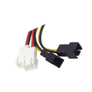 Image 4 - IDE Molex 4 pin to Case cooling Fan 3 pin TX3 Multi Fan Out  Power Adapter Converter Cable w/ Speed Reduction ,2x5V/2x12V