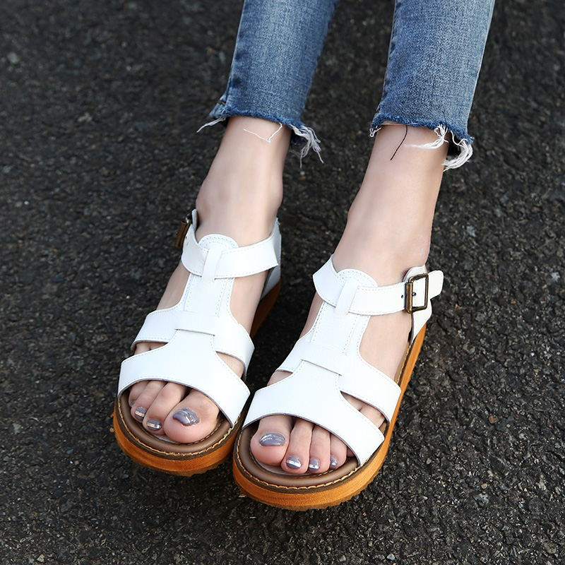 2017 summer casual students shoes strap ladies women platform peep-toe leather sandals comfortable Gladiator Beach silver phyanic 2017 gladiator sandals gold silver shoes woman summer platform wedges glitters creepers casual women shoes phy3323