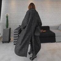 LANMREM 2018 осень зима елочка Повседневная открытая стежка карманы широкие-waisred Mid-calaf Свободное пальто женское пальто EF443
