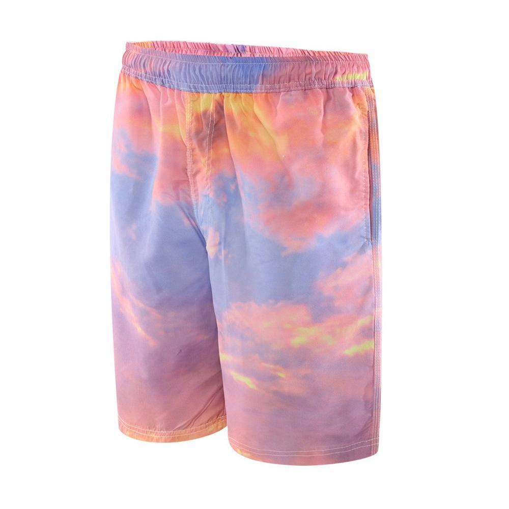 Fashion Men's Strapped Hawaiian  Beach Fit Sport Quick Dry Casual Shorts Pants Quick Dry Sportswear Jogger Beach Short J5@