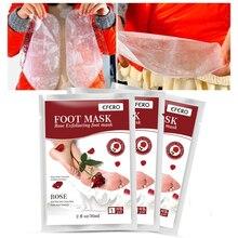 EFERO Exfoliating Foot Mask for Legs Pedicure Socks Rose Extract Peeling Dead Skin Care Peel Repairs Rough