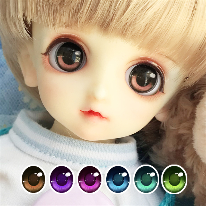 BJD Eyes 14MM Eye Pressure 10-18-20mm 2D Doll Eyes For 1/8 1/6 1/4 1/3 BJD SD DD Doll Accessories 6 Colors