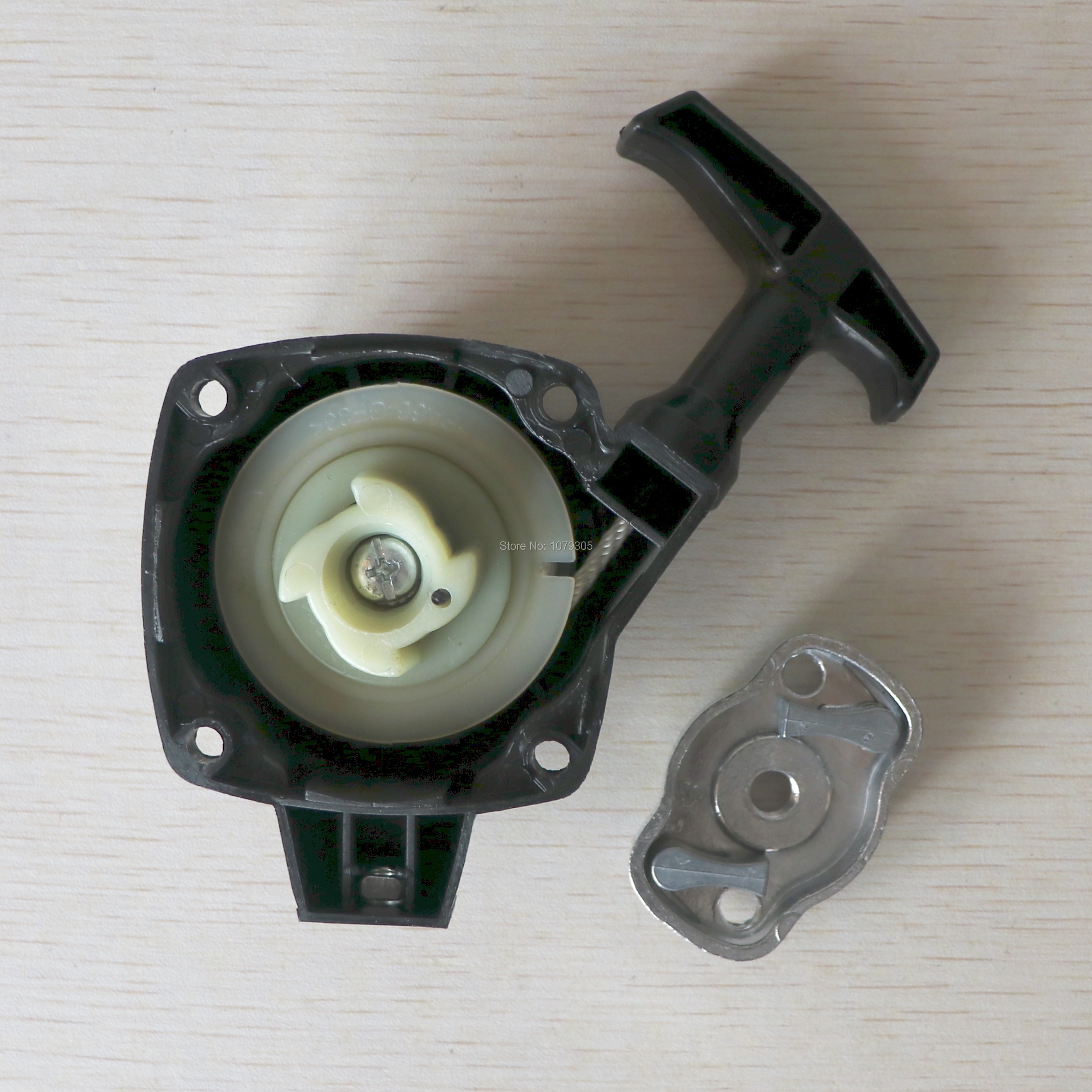 Recoil Easy Starter With Pulley Plate Fit Brush Cutter Garden Tool 26CC 1E34F Grass Strimmer Engine