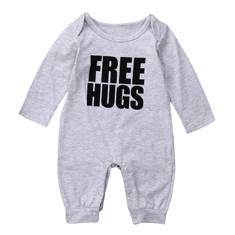HOT SALE Infant Baby Boys Long Sleeve Romper Jumpsuit Outfits Clothes Color:Gray Size:0-6 Months