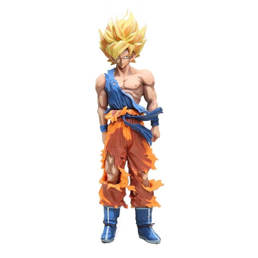 Manga Dragon Ball Z Vegeta Goku Gohan Broly Trunks Action Figures 34cm 27