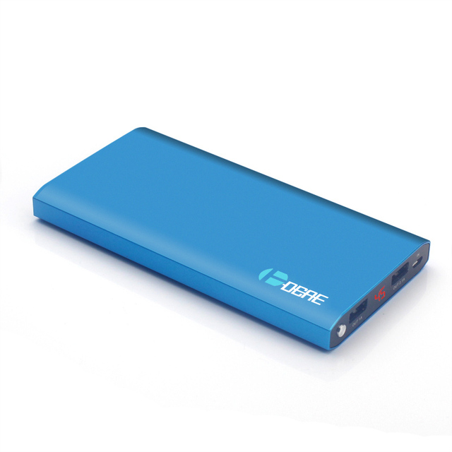 DCAE New Power Bank 12000mAh Dual USB Li-Polymer Battery External Battery Pack Portable Charger powerbank for Mobile Phone