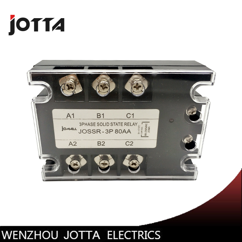 SSR-80AA 80A AC control Voltage 80-250VAC SSR three phase Solid state relay zyg 3a4880 80a ac control ac ssr three phase solid state relay