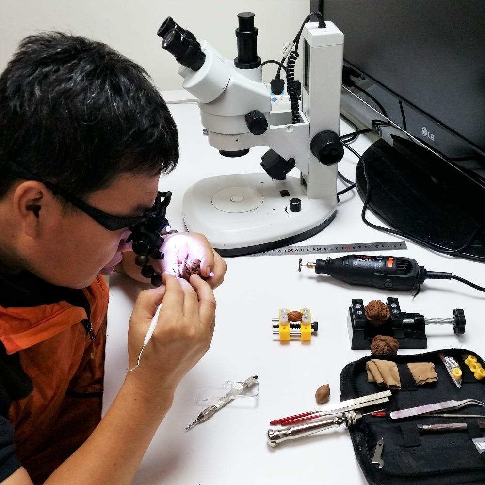 Fejpánt 10X 15X 20X 25X LED-es szemüveg nagyító Órák ékszerek - Mérőműszerek - Fénykép 5