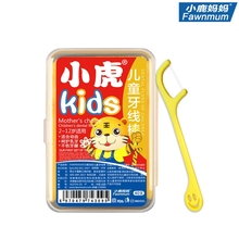 Dental Flosser For Baby Children Cartoon Dedicated Floss Pick Kids Toothpick Oral Healthy Care Fruit Flavor Wire Sticker