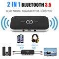 2 Em 1 Receptor de Música de Áudio Estéreo Sem Fio Bluetooth V4.1 Transmissor Receptor Adaptador Para Telefones celulares Laptop