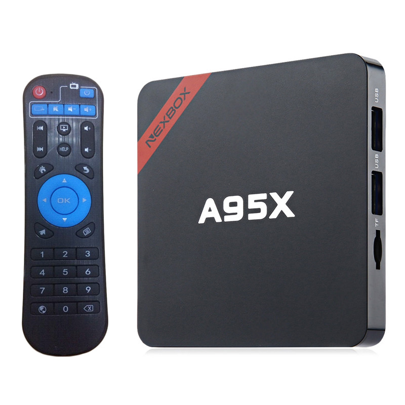 A95X TV Box Android 6.0 Smart TV With Quad Core Amlogic S905X Cortex A53 CPU Support WiFi 2GB RAM+16GB ROM TV Set-Top Box