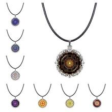 Buddhist Sri Yantra Necklace Talisman Pendant Sacred Geometry Choker N