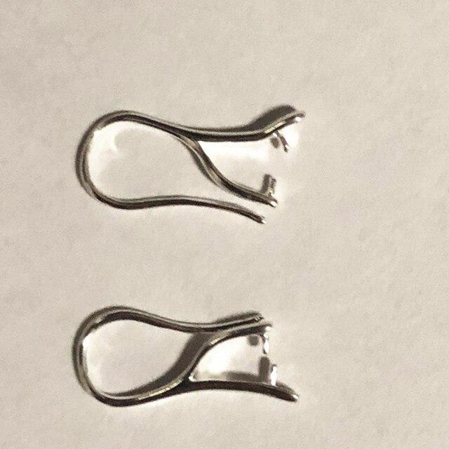 도매 100 pcs 많은 925 스털링 실버 주얼리 결과 핀치 보석 후크 귀걸이 귀 와이어 크리스탈 비즈 FY-03