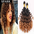 Extensões Para O Cabelo barato 7A Ombre Encaracolado Brasileiro Jerry Curly Virgin Hair Extension 1 pc/lote ou 2 Pacote Comprimento Mista ishow cabelo