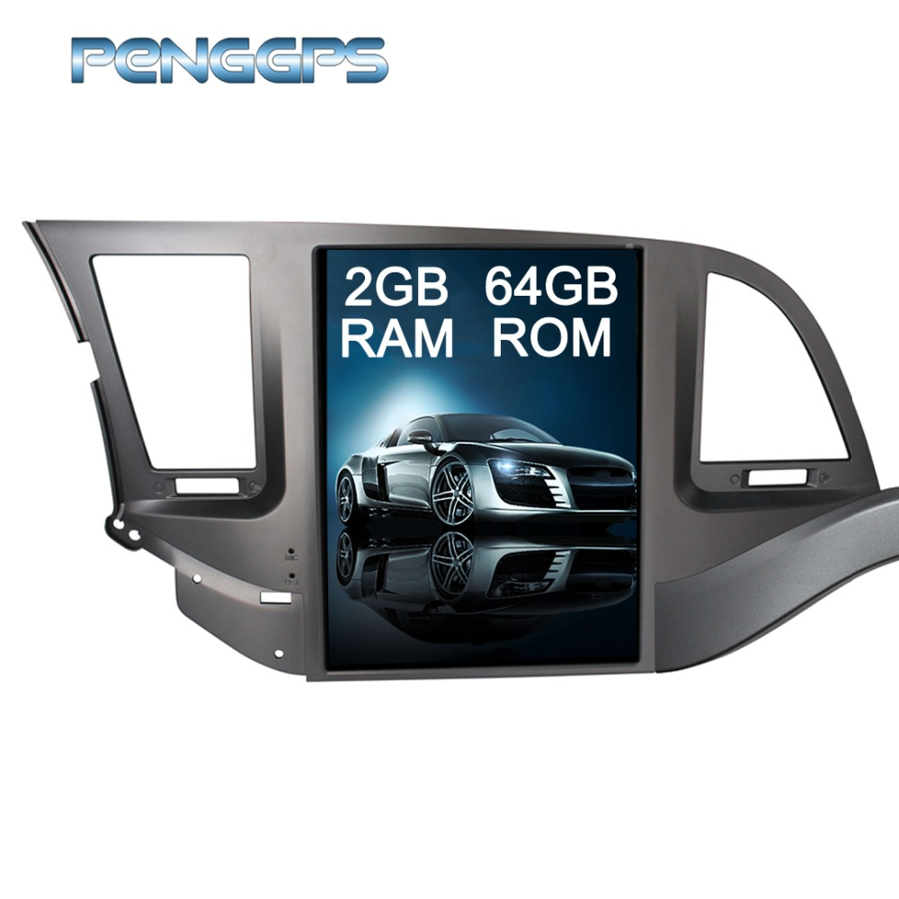 Tesla Style 10 4 IPS Screen Android 7 1 for Hyundai Elantra 2016 2017 2018 GPS