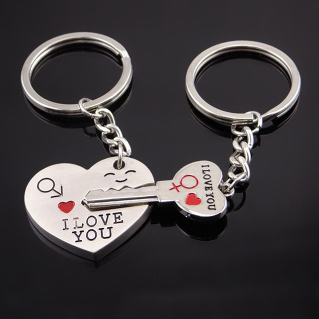 I Show Valentine S Day Gift Couple Keychains I Love You Heart
